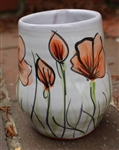 Pottery - Majolica Wine Cup - Poppy