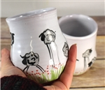 Pottery - Majolica Wine Cup - Tall Sheep