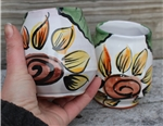 Pottery - Majolica Wine Cup - Sunflower