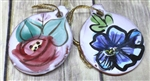 Pottery - Ornament - Round - Choose your flower