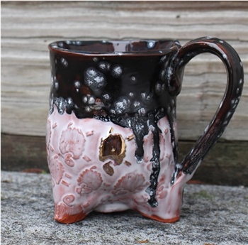Pottery - Golden Fleece Tripod  Mug