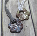 Pottery - Necklace - Swirly Flower