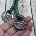 Pottery - Necklace - Snowflake Round