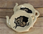 Pottery - Teabag/spoon rest - Teapot - Sheep