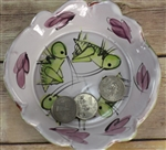 Pottery - Majolica Small Dish - Grasshopper/Cricket