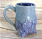 Pottery - Tripod  Mug - Crystal Waters