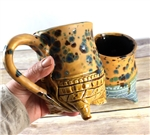 Pottery - Tripod  Mug - Jasper Brown