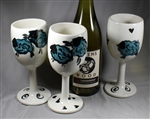 King's Pottery - Wine Glasses - Naughty Sheep