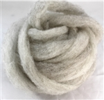 "CVM Romeldale Roving - ""Agnes"" - Light grey - 2 oz bundle"
