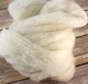 "CVM Romeldale Roving - ""Angel"" - Ecru -  - 2 oz bundle"
