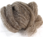 "CVM Romeldale Roving - ""Argyle"" - Dark grey brown  - 2 oz bundle"
