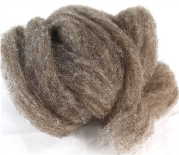 "CVM Romeldale Roving MoKa Farm - ""Argyle"" - Dark grey brown  - 2 oz bundle"