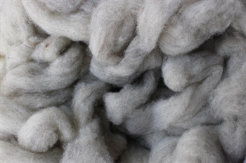 "CVM Romeldale Roving - ""Burgundy"" -  Grey  - 2 oz bundle"