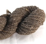 CVM Romeldale yarn - worsted - Argyle - dark brown/grey 200yds