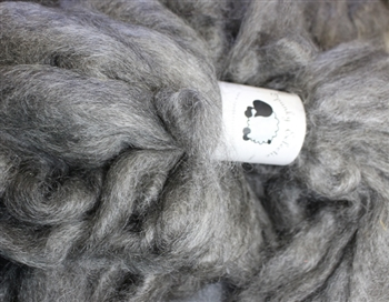 "Mohair Roving MoKa Farm - ""Buster and Jypsaloo"" -  grey - 2 oz bundle"