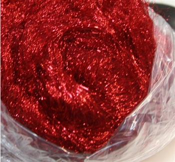 Metallic Sparkling Fibers - RUBY RED (by the ounce)