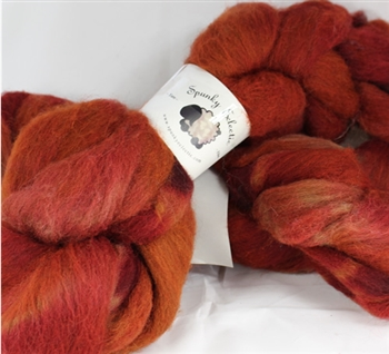 Handpaint on Manx Loaghton in Colorway: Mars