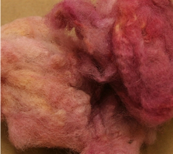 Cheviot Locks (2oz) - Washed and Dyed - Mauve