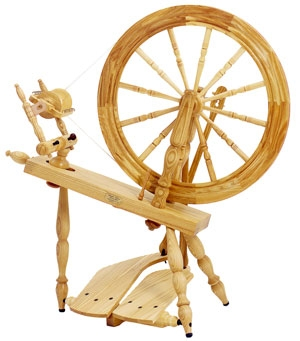 Schacht-Reeves Spinning Wheel - Shown here is the Ash with Double Treadle
