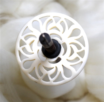 ButterflyGirl Spindle - Lacy Resin - Ivory