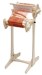 Schacht Cricket Loom stand - 10 inch has the red warp, the 15 inch has the blue warp