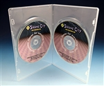 Diskeeper Slim Double DVD Case in Clear (10 Pack)