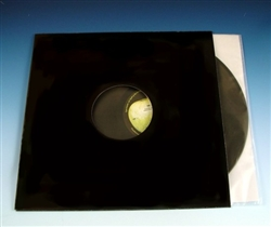 Black Die-Cut LP Jacket with Center Hole