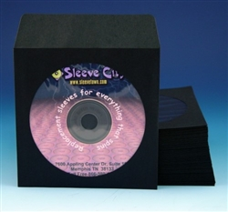 black paper cd dvd sleeve with flap