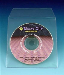 Vinyl CD, DVD Sleeve with Flap (100 Pack)