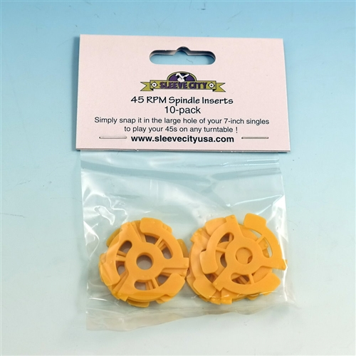 45 Rpm Spindle Inserts 10 Pack