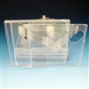 Slim Double Jewel Case with Clear Tray Unassembled (10 Pack)