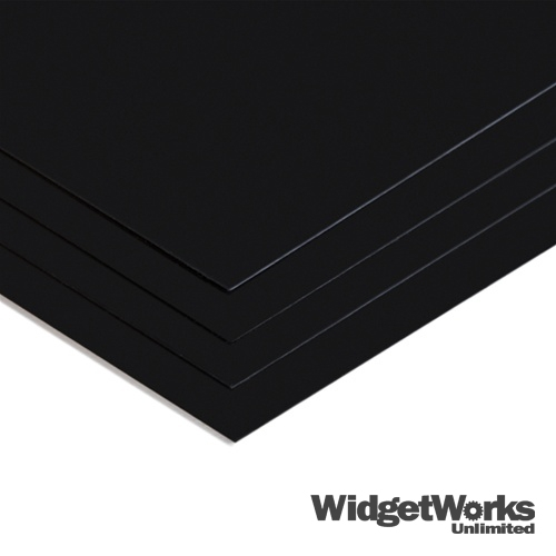 1 32 black high impact styrene 12x12 thermoform plastic for Forme in plexiglass