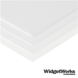 "WHITE Styrene Thermoform Plastic Sheets<br> 0.020"" x 12"" x 12"" Sheets - 12 Piece Bundle"