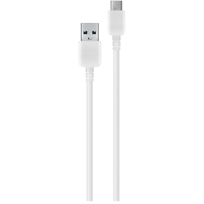 USB A male to USB Type-C male Cable 3.3 ft - White