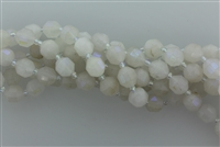 COATED MOONSTONE FACETED CYLINDER - 10mm