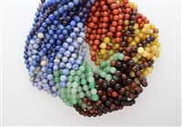 MIX GEM OMBRE SMOOTH ROUND - 6mm