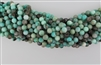PERUVIAN AMAZONITE BLACK&BLUE ROUND SMOOTH - 8mm
