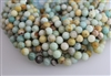 AMAZONITE BLACK&GOLD ROUND SMOOTH - 10mm