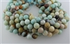 AMAZONITE BLACK&GOLD FACETED ROUND - 12mm