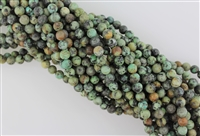 AFRICAN TURQUOISE SMOOTH ROUND - 4mm