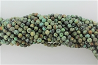 AFRICAN TURQUOISE SMOOTH ROUND - 6mm