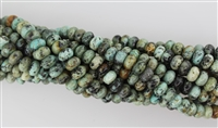 AFRICAN TURQUOISE ROUNDEL - 5*8mm