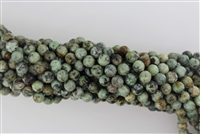 AFRICAN TURQUOISE FACETED ROUND - 4mm
