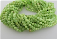GREEN CALCITE SMOOTH ROUND - 6mm
