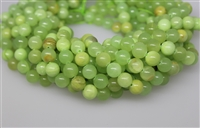 GREEN CALCITE SMOOTH ROUND - 10mm