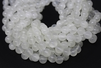 WHITE CALCITE SMOOTH ROUND - 10mm