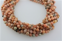 PINK CALCITE SMOOTH ROUND - 8mm