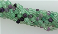FLUORITE FACETED ROUND - 6mm