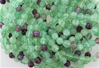 FLUORITE FACETED ROUND - 10mm
