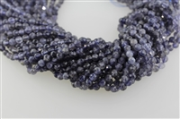 IOLITE MICRO FACETED ROUND - 5MM